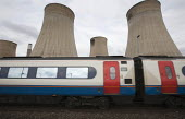 Railway and power station Ratcliffe-on-Soar Midlands - John Harris - , Cooling Towers,2010s,2015,carriage carriages,EBF Economy,network,Power Station,public,RAIL,railway,RAILWAYS,service,service services,services,station,STATIONS,train,trains,transport,transportation,t