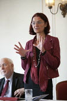 Helle Hagenau, No to the EU Norway speaking NO TO EU, NO TO TTIP, TUC conference Brighton - John Harris - 15-09-2015