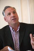 Brian Denny TUAEU speaking NO TO EU, NO TO TTIP, TUC conference Brighton - John Harris - 15-09-2015