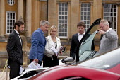 Tiff Needell and judges Salon Prive Supercar Show Blenheim Palace Oxfordshire - John Harris - wealth,2010s,2015,AFFLUENCE,AFFLUENT,AUTO,AUTOMOBILE,AUTOMOBILES,AUTOMOTIVE,Bourgeoisie,broadcaster,car,cars,elite,elitism,EQUALITY,high,high income,host,income,INCOMES,INEQUALITY,judge judges,leisure