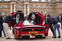 Salon Prive Supercar Show Blenheim Palace Oxfordshire Ferrari Enzo FXX - John Harris - wealth,2010s,2015,AFFLUENCE,AFFLUENT,AUTO,AUTOMOBILE,AUTOMOBILES,AUTOMOTIVE,Bourgeoisie,car,cars,elite,elitism,EQUALITY,Ferrari,high,high income,income,INCOMES,INEQUALITY,leisure,lfL,LIFE,lifestyle,PE