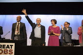 Leslie Manasseh Pres Prospect, Jeremy Corbyn MP, newly elected Leader of the Labour Party Frances O'Grady, Paul Nowak TUC conference, Brighton. - John Harris - 15-09-2015