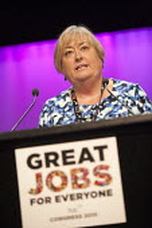 Denise McGuire Prospect speaking TUC conference Brighton - John Harris - 15-09-2015