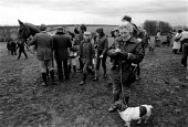 Race meeting in the Cotswolds attended by landed gentry and wealthy. - John Harris - ,1980s,1981,AFFLUENCE,AFFLUENT,animal,animals,Bourgeoisie,class,Cotswold,Cotswold Hills,Cotswolds,country,countryside,dog,DOGS,domesticated ungulate,domesticated ungulates,elite,elitism,EQUALITY,Eques
