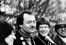 Ken Livingstone Labour Leader of GLC Keep Fairs Fare campaign. ... - John Harris - 1980s,1981,council,GLC,Greater London Council,ken,Leader,Local Authority,POL politics,red