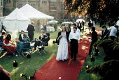 Students at May Balls Cambridge. ... - John Harris - 1980s,1983,adult,adults,AFFLUENCE,AFFLUENT,Alcohol,ball,Balls,Bourgeoisie,couple,couples,drink,drinking,EDU education,elite,elitism,EQUALITY,female,high,high income,Higher Education,income,INCOMES,INE