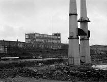 Demolished BSA factory Birmingham 1987 - John Harris - ,1980s,1987,Birmingham,building,buildings,capitalism,capitalist,cities,city,deindustrialisation,Deindustrialization,DOWNTURN,EBF,EBF economy,Economic,Economy,Engineering,FACTORIES,factory,Industries,i