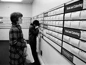 Unemployed women looking for Hotel and Catering work in Job Centre, Sparkbrook, Birmingham - John Harris - 25-03-1987