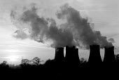 Drax Coal fired power station Yorkshire - John Harris - 1980s,1988,acid,Chimney,CHIMNEYS,Coal,cooling,Cooling Towers,EBF,EBF economy,Economic,Economy,energy supply,ENI environmental issues,environmental degradation,POLLUTANT,POLLUTE,POLLUTED,POLLUTING,poll