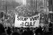 Protest against war in the Gulf, no attack on Iraq, London 1991 - John Harris - 12-01-1991