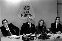 Gordon Brown, John Smith, Margaret Beckett and Tony Blair Election press conference Birmingham 1992 - John Harris - 01-09-1992