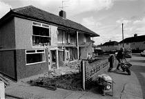 Local Authority housing being refurbished Bristol - John Harris - 24-10-1991