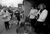 Women Against Pit Closures vigil outside Armthorpe Colliery Yorkshire Coalfield. Helen John (L) - John Harris - 06-02-1993