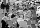 Wealthy picnickers at Henley Royal Regatta Henley on Thames - John Harris - 10-07-1993