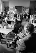 OFSTED - Office For Standards in Education inspector inspecting class teacher at a midlands school. - John Harris - 18-11-1993