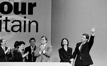 Tony & Cherie Blair MP Labour Party conference - John Harris - ,1990s,1994,Conference,conferences,Labour Party,Party,POL,POL politics,political,POLITICIAN,POLITICIANS,Politics,SPEAKER,SPEAKERS,speaking,SPEECH
