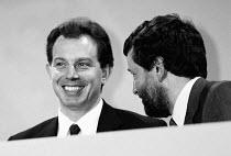 Tony Blair & David Blunkett MP Labour Party conference - John Harris - 01-10-1994