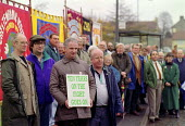 GCHQ trade unions vigil for the restoration the right to organize trades unions at GCHQ Cheltenham - John Harris - 18-11-1994
