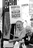 GCHQ trade unions lobby for the restoration the right to organize trades unions at GCHQ outside Conservative party conference 1994 - John Harris - 18-10-1994