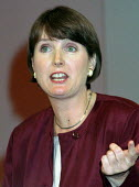 Harriet Harman Labour MP speaking at Labour Party Conference 1995 - John Harris - 01-10-1995
