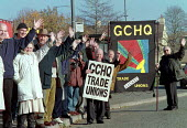 GCHQ trades unions vigil for the restoration the right to organize trade unions at GCHQ Cheltenham - John Harris - 18-11-1995