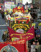 GCHQ trade unions annual march & rally for the restoration the right to organize trade unions at GCHQ Cheltenham - John Harris - 27-01-1996