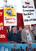 Liverpool dockworkers lobby Labour Party conference 1996 - John Harris - 09-09-1996