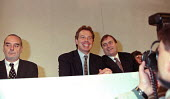 Tom Sawyer Tony Blair and John Prescott being photographed at Labour Party conference 1996 - John Harris - 01-10-1996