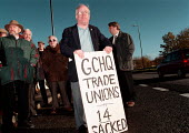 GCHQ trade unions vigil for the restoration the right to organize trades unions at GCHQ Cheltenham - John Harris - 22-11-1996