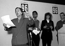 Tony Robinson as Baldrick transformed Unions'96 conference TUC Congress House 23/11/96 - John Harris - 23-11-1996