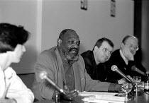 Darcus Howe  Unions'96 conference TUC Congress House 23/11/96 - John Harris - 1990s,1996,BAME,BAMEs,black,BME,bmes,cities,city,conference,conferences,diversity,ethnic,ethnicity,House,houses,member,member members,members,minorities,minority,people,poc,SOI social issues trade uni