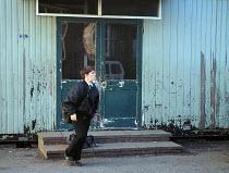 Decaying classroom secondary school South Wales - John Harris - 28-01-1997