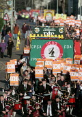 March through Cheltenham for the 13th year to protest at the ban and sacking of trade union members at GCHQ 25.1.97 - John Harris - 25-01-1997