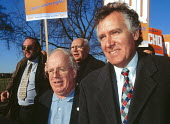 Mike Grindley GCHQ and Peter Hain MPMarch through Cheltenham for the 13th year to protest at the ban and sacking of trade union members at GCHQ 25.1.97 - John Harris - 25-01-1997