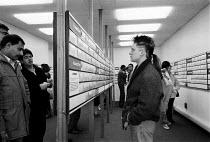 Unemployed looking for work in Job Centre, Sparkbrook, Birmingham - John Harris - 25-03-1987