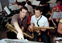 National Youth Jazz Orchestra music workshop at Dean Close School Cheltenham - John Harris - 30-05-1997