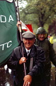 GCHQ trade unions march & rally to celebrate the restoration the right to organize trade unions at GCHQ Cheltenham 31.8.97 - John Harris - 31-08-1997
