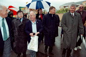 Labour and TUC leaders at GCHQ trade unions march & rally to celebrate the restoration the right to organize trade unions at GCHQ Cheltenham 31.8.97 - John Harris - 31-08-1997