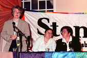 Jackie Lewis UNISON at Stonewall Group fringe meeting Labour Party Conference 1997 Brighton - John Harris - ,1990s,1997,Conference,conferences,gay,lesbian,LESBIANS,LGBT,meeting,MEETINGS,Party,POL politics,rights,SEXUALITY,Stonewall,UNISON