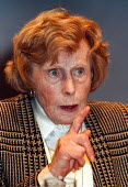 Barbara Castle MP speaking at Labour Party Conference 1997 Brighton - John Harris - 01-10-1997