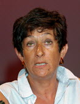 Mary Davis NATFHE trade union speaking at TUC 1997 Blackpool - John Harris - 10-09-1997