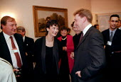 Cherie Blair at a trades union social at Labour Party Conference 1997 Brighton - John Harris - ,1990s,1997,Conference,conferences,member,member members,members,Party,people,POL politics,social,trade union,trade union,trade unions,trades union,trades union,trades unions,worker,workers