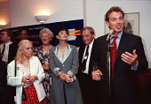 Cherie Blair and Tony Blair at a trades union reception at Labour Party Conference 1997 Brighton - John Harris - 1990s,1997,Conference,conferences,member,member members,members,Party,people,POL politics trade union,reception,Trade Union,Trade Union,trade unions,trades union,trades union,trades unions,worker,work
