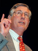 Michael Meacher MP speaking at Labour Party Conference 1997 Brighton - John Harris - 30-09-1997