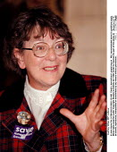 Audrey Wise MP Labour - John Harris - ,1990s,1997,Conference,conferences,Labour Party,POL,POL politics,political,POLITICIAN,POLITICIANS,Politics,SPEAKER,SPEAKERS,speaking,SPEECH