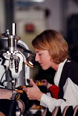 Women worker at Doc Martin boots factory during the manufacturing - John Harris - 16-12-1997