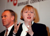 Angela Eagle MP Under Sec. of state Dept. of the Environment at CLES conference - John Harris - 1990s,1998,conference,conferences,Environment,female,POL politics