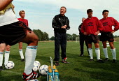 Howard Wilkinson Technical Manager, and MSF member, coaching the under 18 football team - John Harris - 31-08-1998