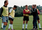 Howard Wilkinson Technical Manager, and MSF member, coaching the under 18 football team - John Harris - 30-08-1998