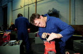 Engineering apprentices training at Alstom turbine manufacturing Lincoln - John Harris - 20-10-1998